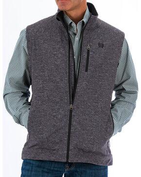 Cinch Men's Concealed Carry Printed Bonded Vest, Charcoal, hi-res