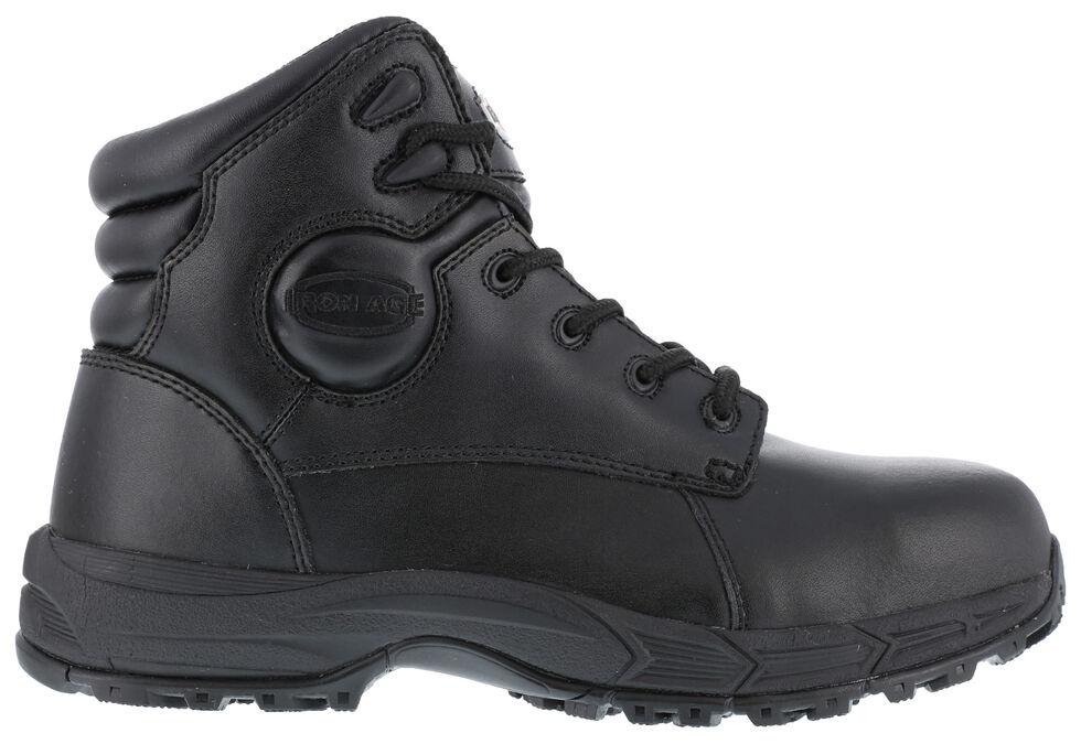 Iron Age Men's Ground Finish Steel Toe Work Boots, Black, hi-res