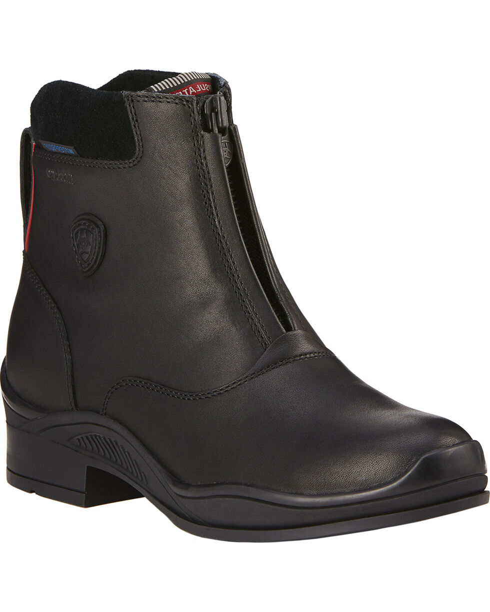 Ariat Women's Extreme Zip H2O Insulated Paddock Boots, Black, hi-res