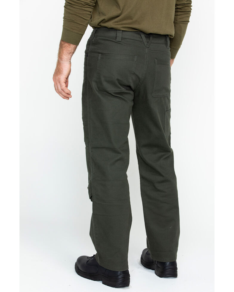 Hawx Men's Stretch Canvas Utility Work Pants , Moss Green, hi-res