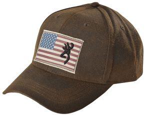 Browning American Flag Buckmark Logo Cap, Brown, hi-res