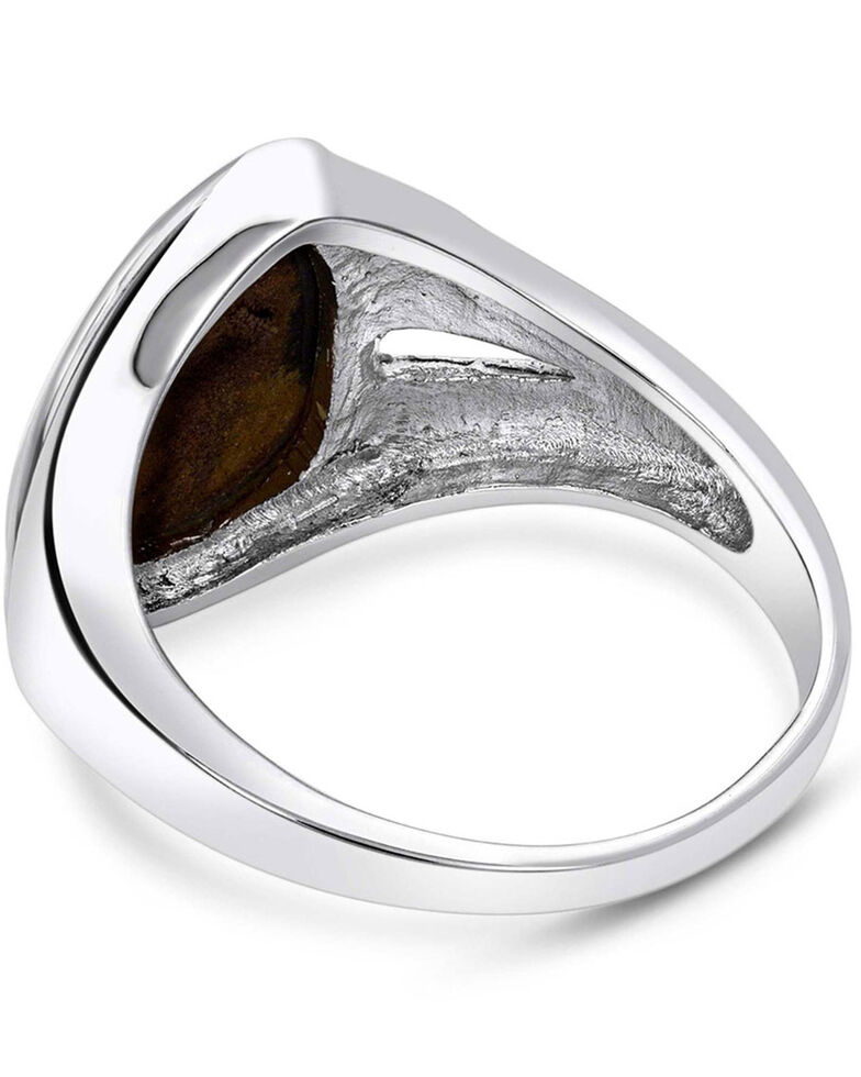 Montana Silversmiths Women's River Of Lights Abstract Teardrop Ring - Size 7, Silver, hi-res