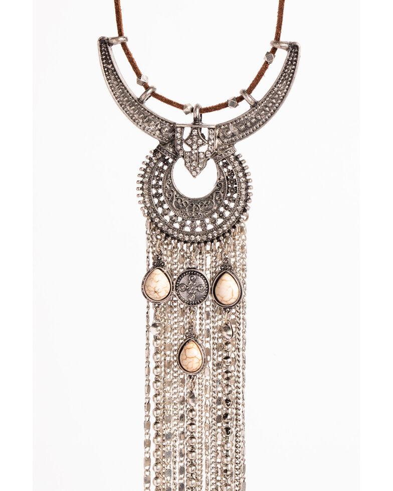 Shyanne Women's Chain Dangle Necklace , Silver, hi-res