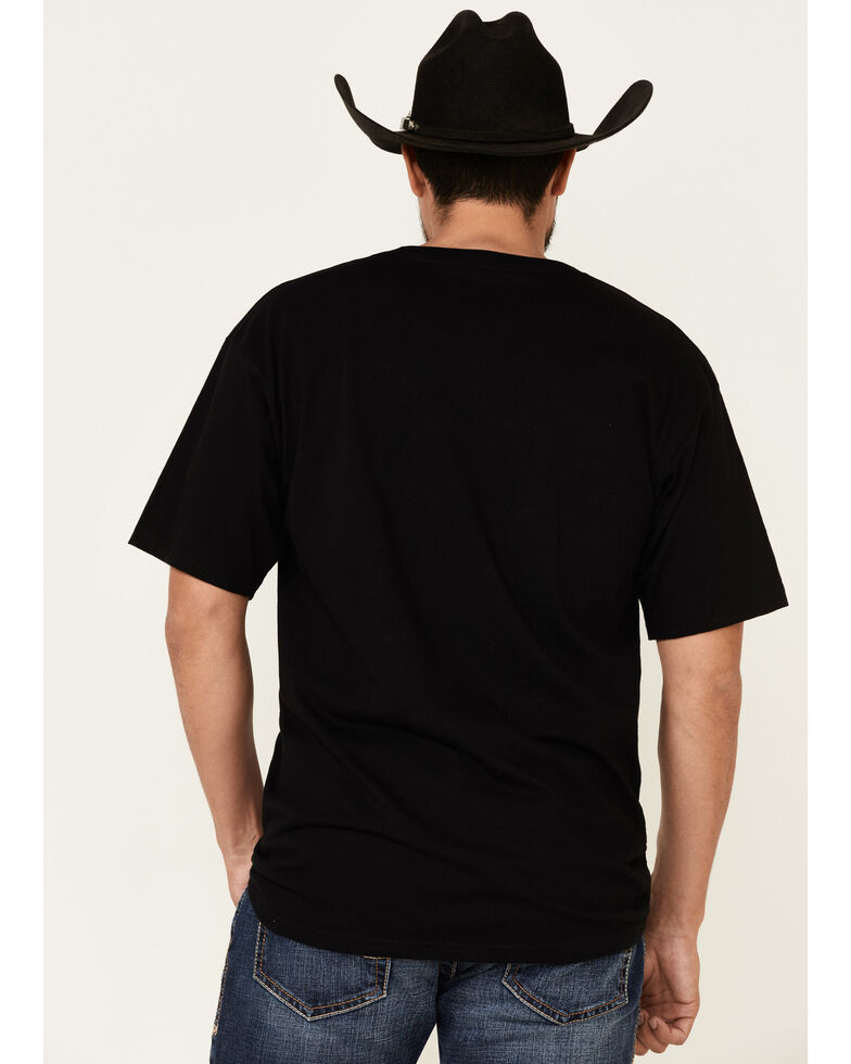 Cinch Men's Black American Brand Logo Graphic T-Shirt , Black, hi-res
