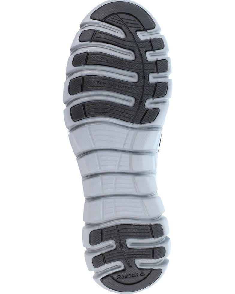 Reebok Men's Black Slip-On Sublite Work Shoes - Alloy Toe, Black, hi-res