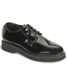 Rocky High Gloss Dress Leather Oxford Dress Duty Shoes, Black, hi-res