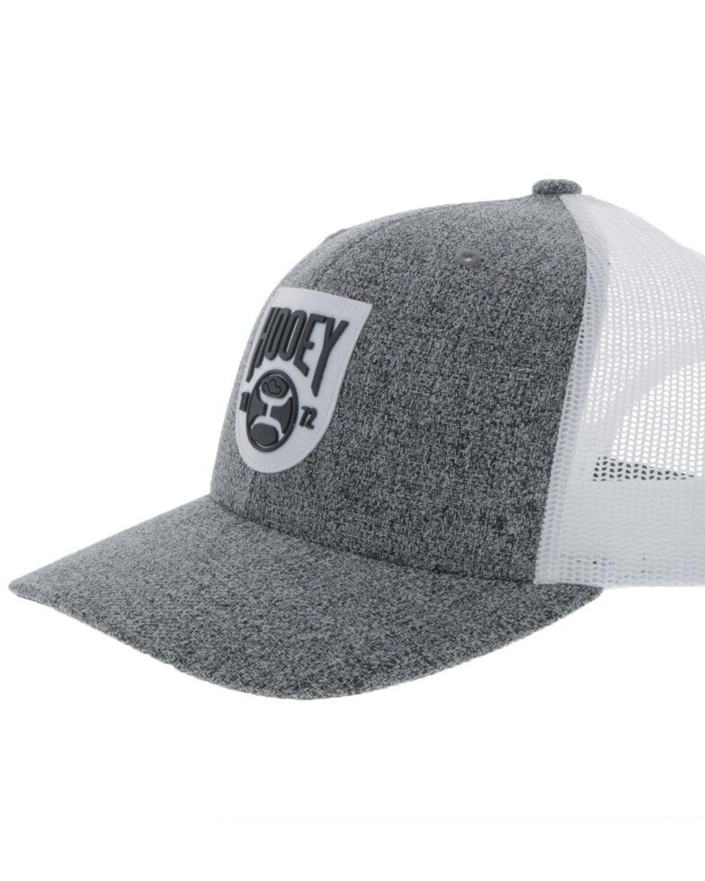Hooey Men's Grey Bronx Shield Patch Mesh Ball Cap , , hi-res