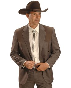 Circle S Boise Western Suit Coat - Big and Tall, Chestnut, hi-res