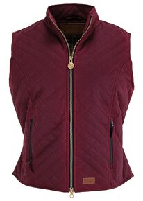 Outback Trading Co. Quilted Oilskin Vest, Berry, hi-res