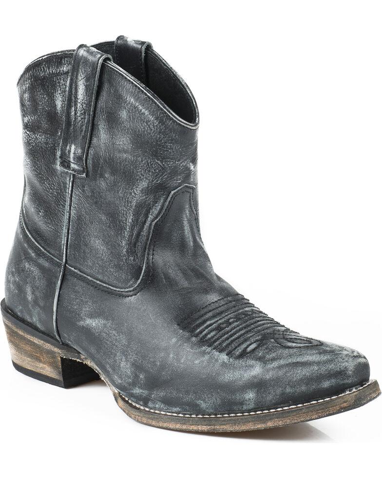 Roper Dusty Distressed Booties - Snip Toe, Black, hi-res