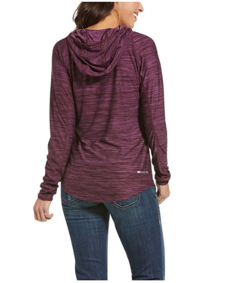 Ariat Women's Winetasting Laguna Hooded Sweatshirt , Purple, hi-res