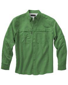 Dri Duck Men's Catch Long Sleeve Woven Work Shirt, Green, hi-res