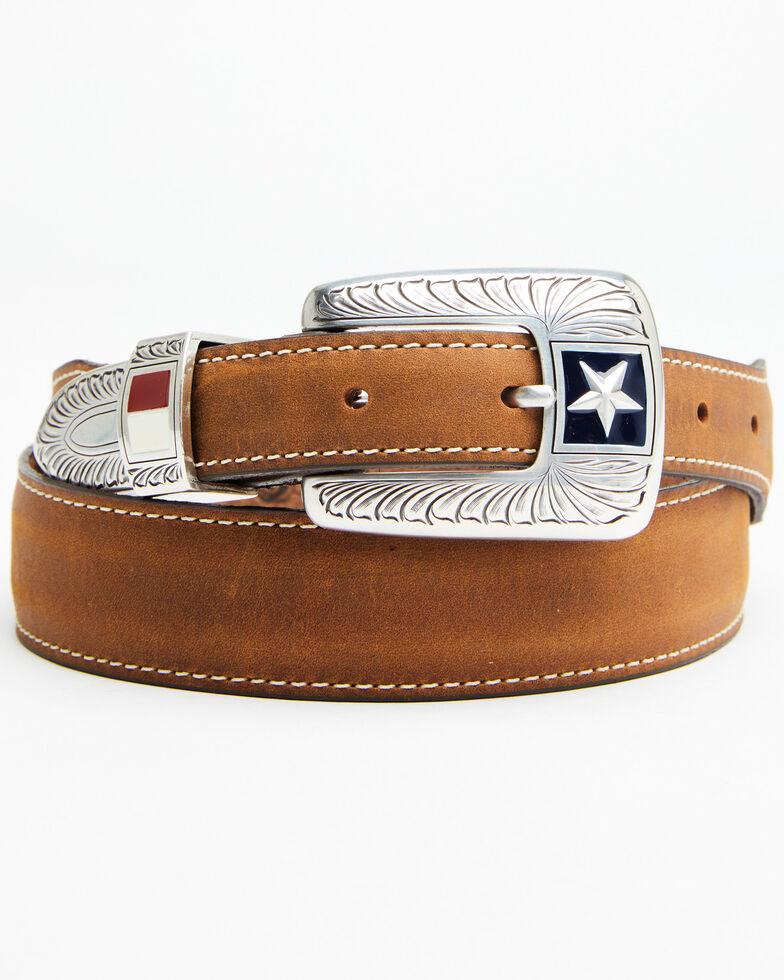 Leegin Men's Texas Liberty Western Belt, Brown, hi-res