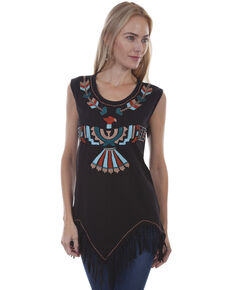 3bfac0557202a3 Honey Creek by Scully Women s Black Embroidered Aztec Tank.  85.99. Scully  Sweetheart Halter Top Dress ...