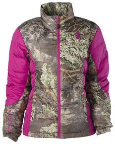 Browning Hell's Belles Coral and Camo Blended Down Jacket, Camouflage, hi-res