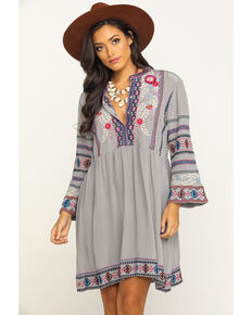 Johnny Was Women's Ellie Wide Dress, Grey, hi-res