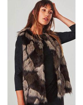 Jack by BB Dakota Women's Brown Genevieve Faux Fur Vest , Brown, hi-res