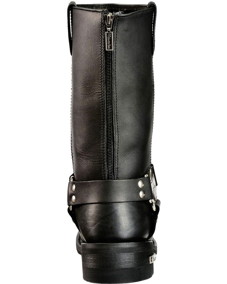 Milwaukee Motorcycle Clothing Men's Harness Motorcycle Boots, Black, hi-res