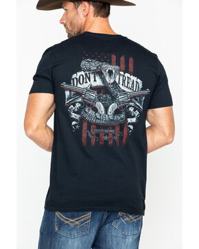 Cody James Men's Don't Tread On Me T-shirt , Black, hi-res