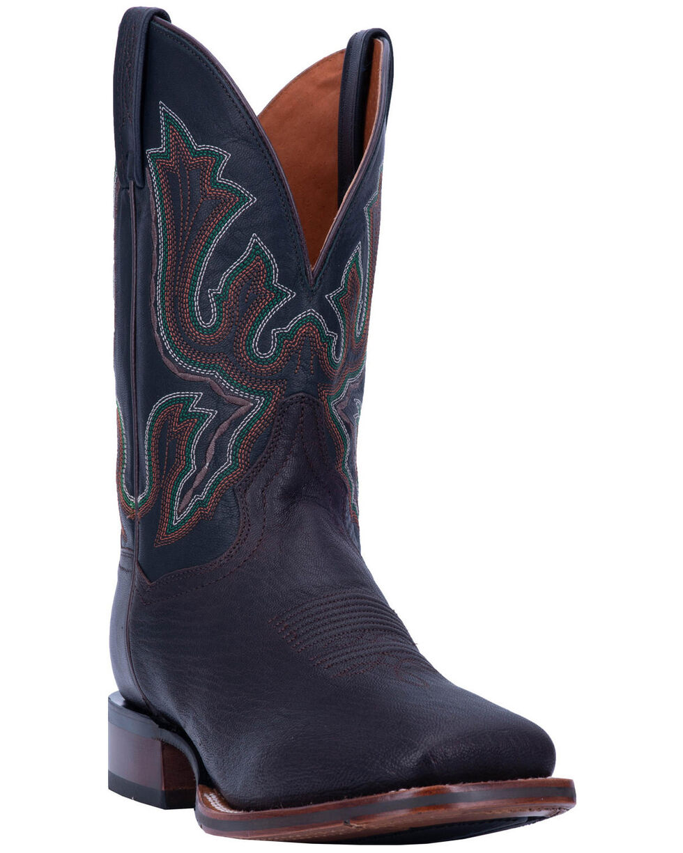 Dan Post Men's Winslow Western Boots - Wide Square Toe, Chocolate, hi-res
