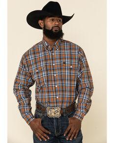 Cinch Men's Multi Med Plaid Double Pocket Long Sleeve Western Shirt , Multi, hi-res