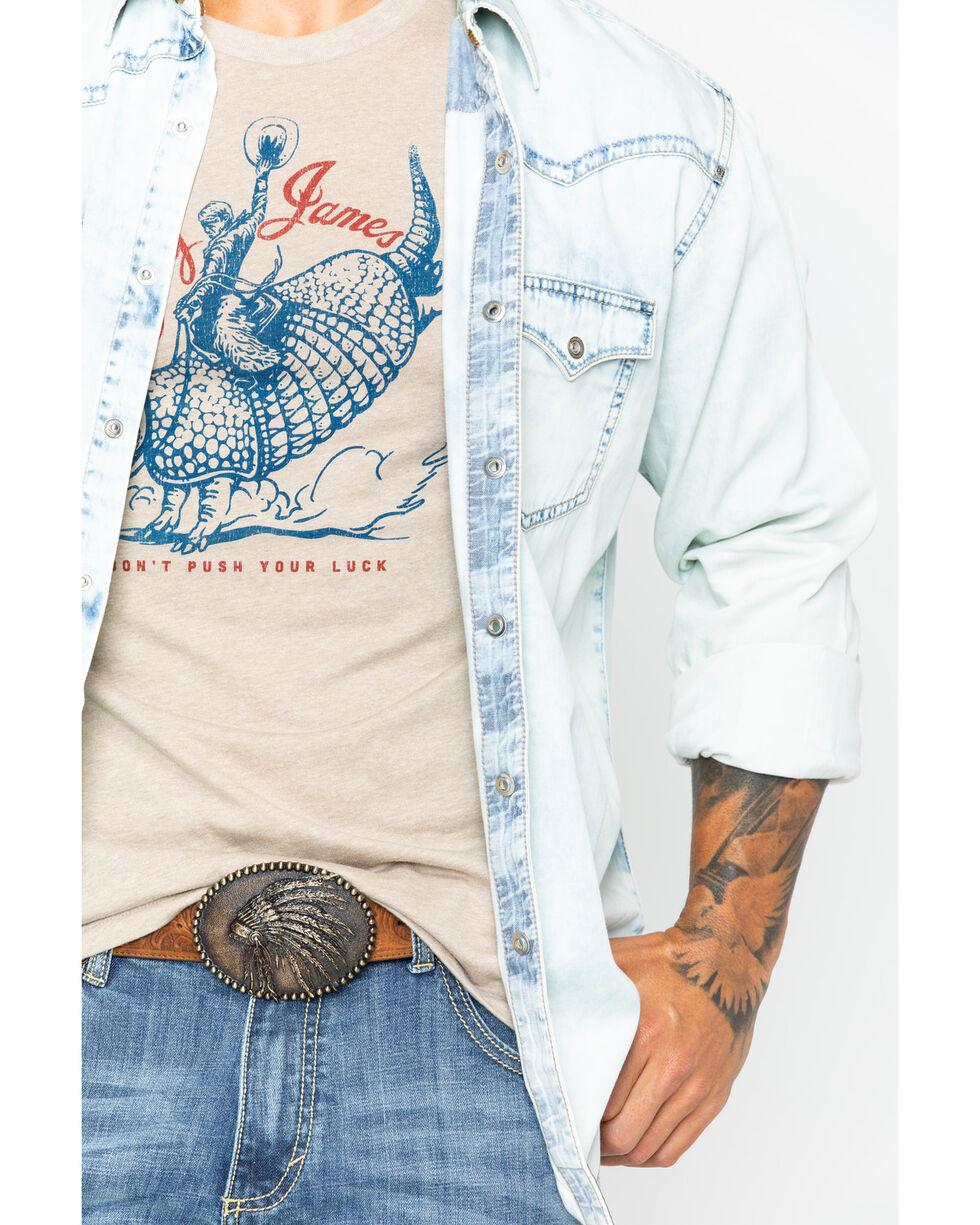 Rock 47 by Wrangler Men's Blue Bleach Denim Shirt , Blue, hi-res