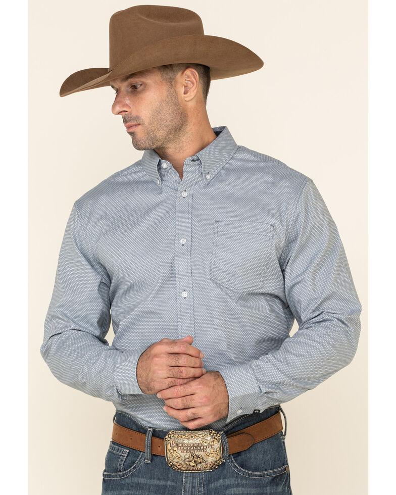 Cody James Core Men's Corpus Small Geo Print Long Sleeve Western Shirt - Big , Medium Blue, hi-res