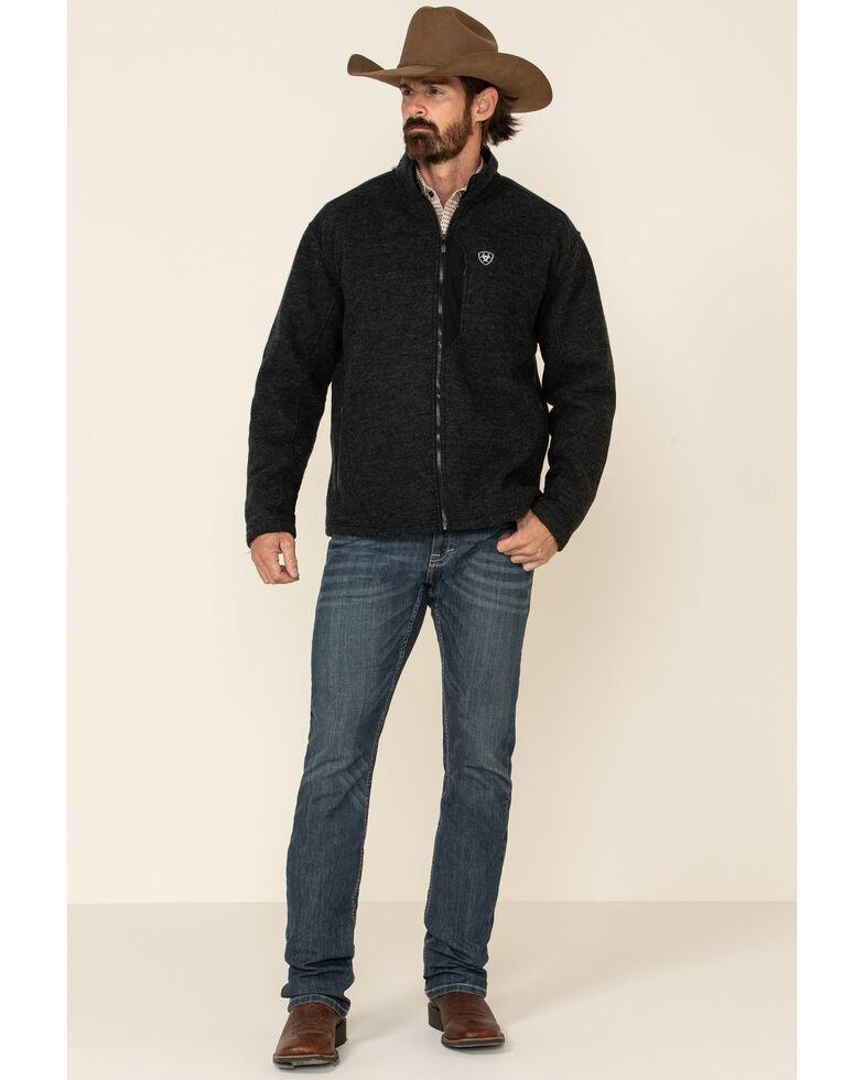 Ariat Men's Black Bowdrie Bonded Full Zip Front Jacket , Black, hi-res