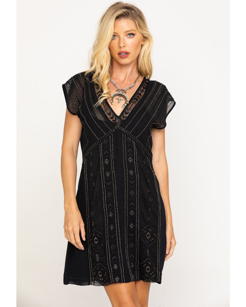 Idyllwind Women's Black Shine N Sequin Dress, Black, hi-res