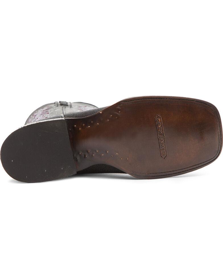 Cody James Men's Stingray Embroidered Exotic Boots - Square Toe, Black, hi-res