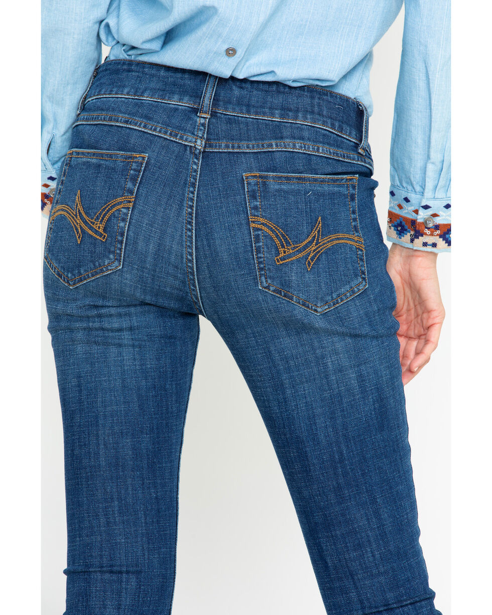 Wrangler Women's Sunnyside Skinny Jeans, Dark Blue, hi-res
