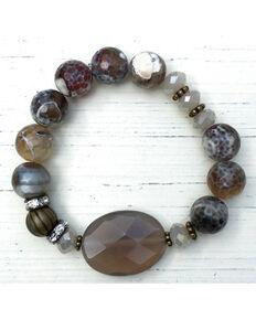 InspireDesigns Women's Brown Premium Stretch Bracelet , Brown, hi-res