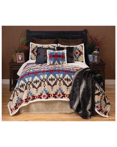 Carstens Home Blue River Southwestern 3-Piece Sherpa Fleece Bedding Set - Twin Size, Blue, hi-res
