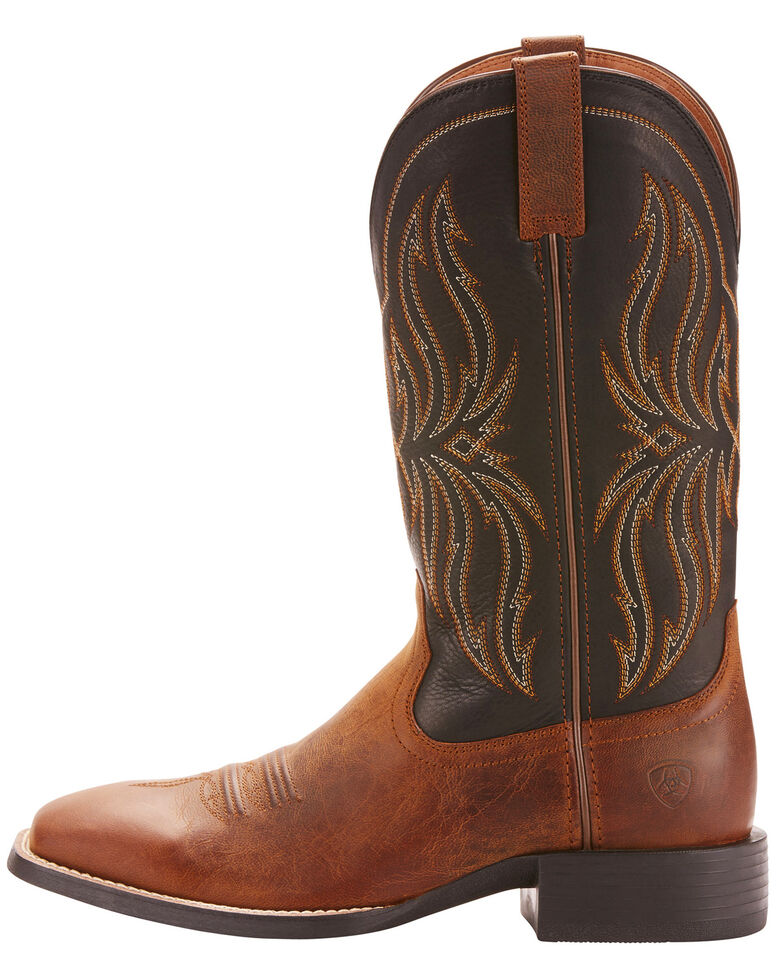 Ariat Men's Rustler Brute Western Boots - Square Toe, Brown, hi-res