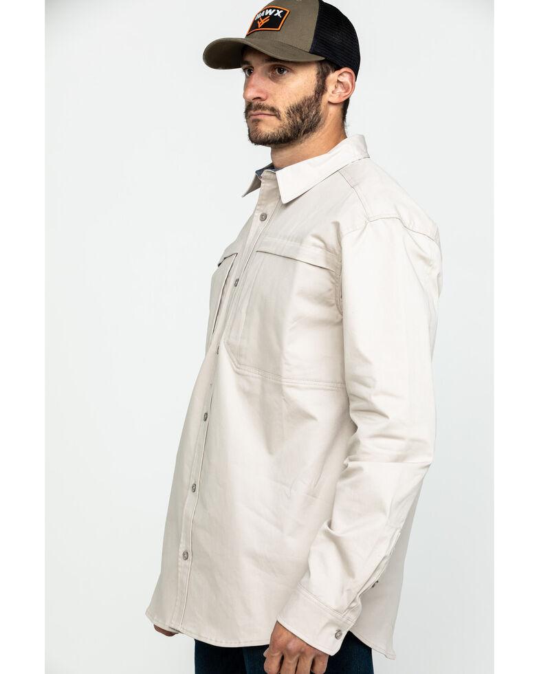 Hawx Men's Khaki Stretch Twill Long Sleeve Work Shirt , Beige/khaki, hi-res