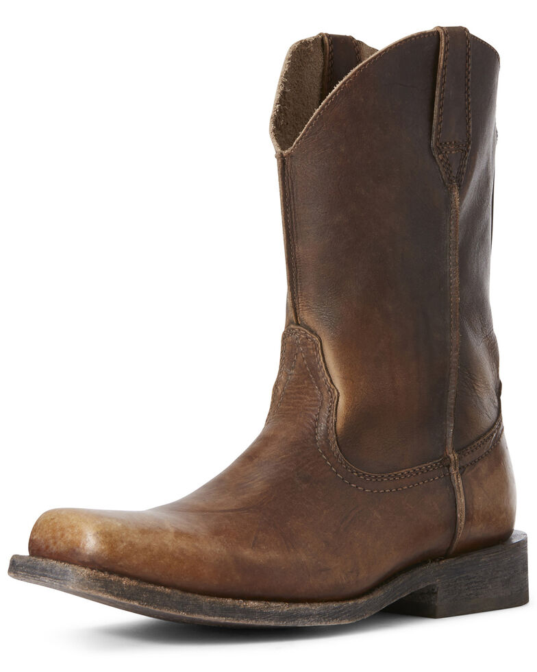 Ariat Men's Rambler Naturally Distressed Western Boots - Square Toe, Brown, hi-res