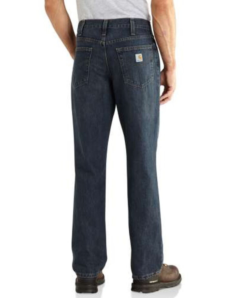 Carhartt Men's M Relaxed Fit Straight Holter Work Jeans - Big , Indigo, hi-res