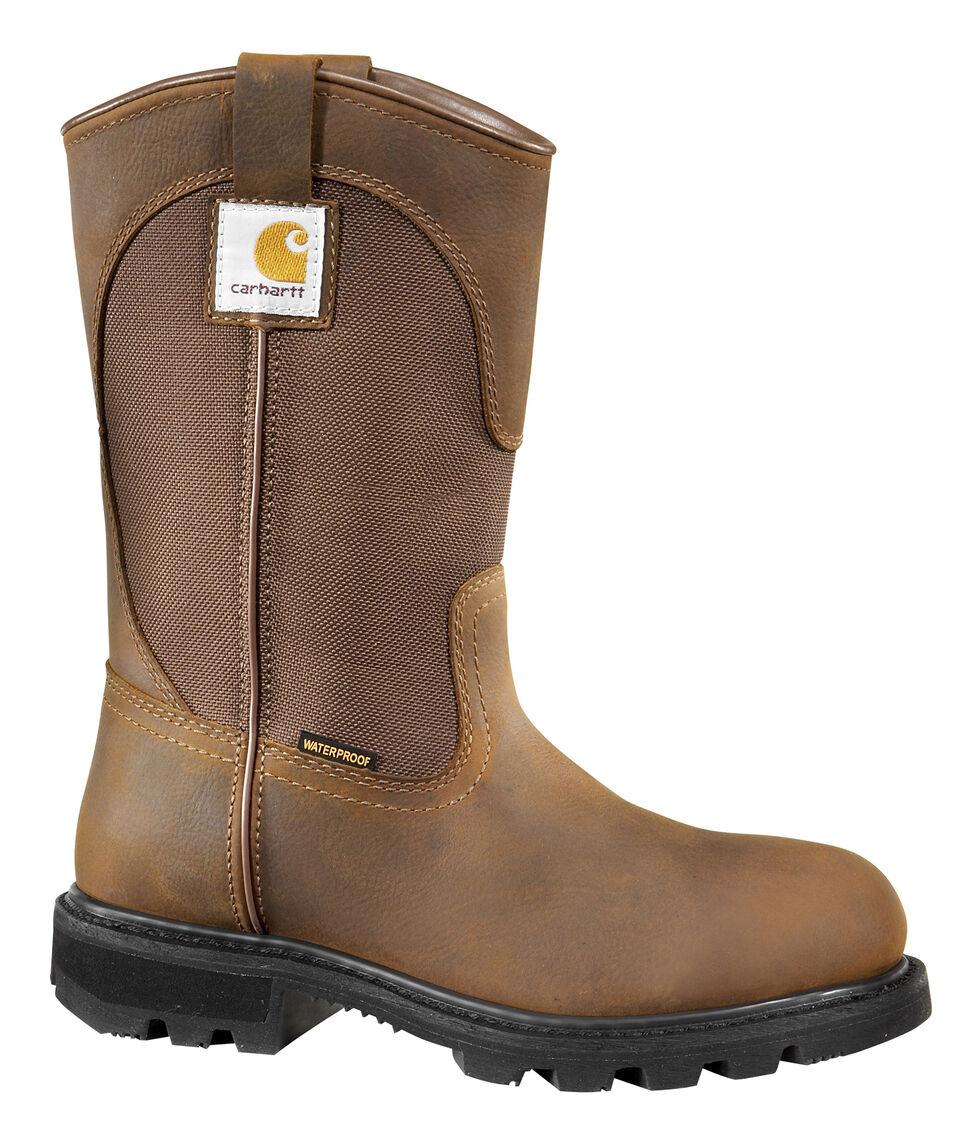 Carhartt Women's Wellington Work Boots, Brown, hi-res