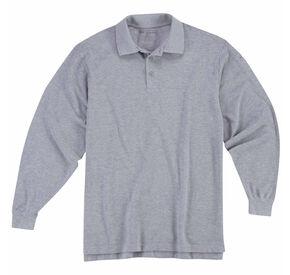 5.11 Tactical Professional Long Sleeve Polo Shirt - 3XL, Hthr Grey, hi-res