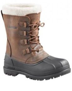 Baffin Men's Brown Canada Faux Fur Leather Tundra Work Boot, Brown, hi-res