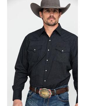 Ely Cattleman Men's Check Plaid Long Sleeve Western Shirt , Black, hi-res