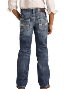 Rock & Roll Denim Boys' Med Vintage Stretch Regular Bootcut Jeans , Blue, hi-res