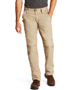 Ariat Men's Rebar M4 Low Rise Workhorse Canvas Boot Cut Pants, Beige/khaki, hi-res