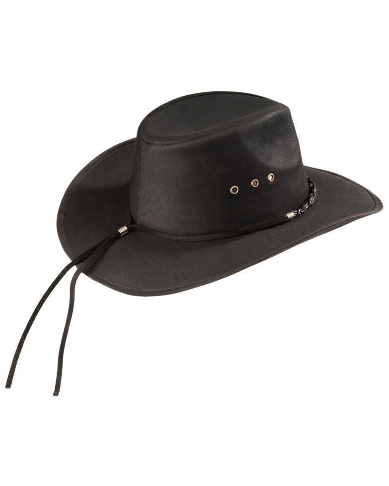 Outback Trading Bootlegger Oilskin Hat, Black, hi-res