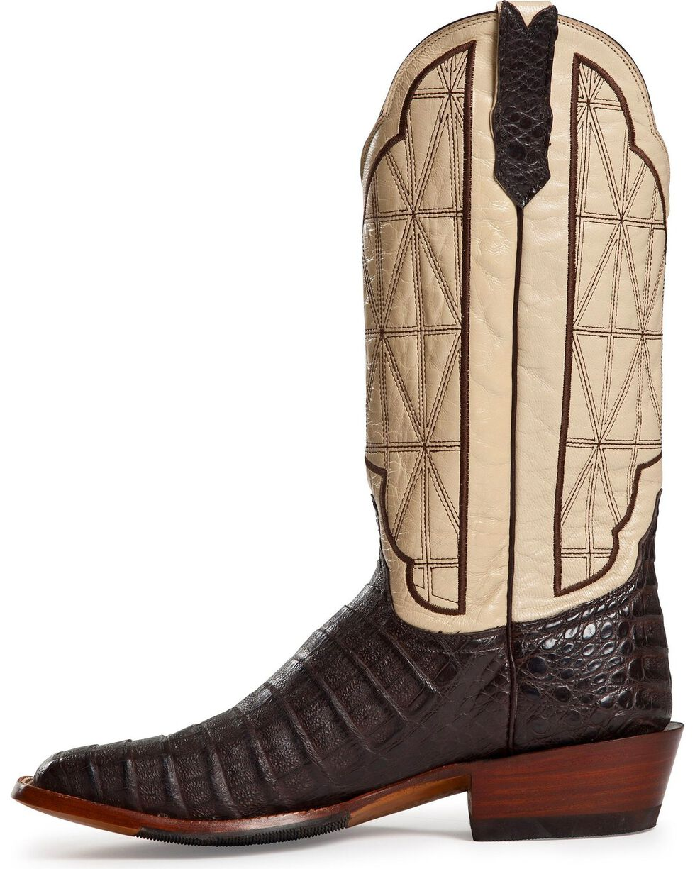 Cinch Classic Caiman Stained Glass Cowboy Boots - Square Toe, Cigar, hi-res