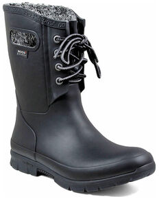 Bogs Women's Amanda Plush Insulated Work Boots - Soft Toe, Black, hi-res