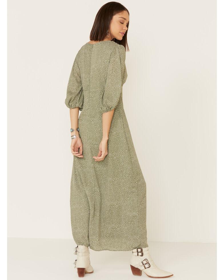 Mikarose Women's Isla Dot Dress, Sage, hi-res
