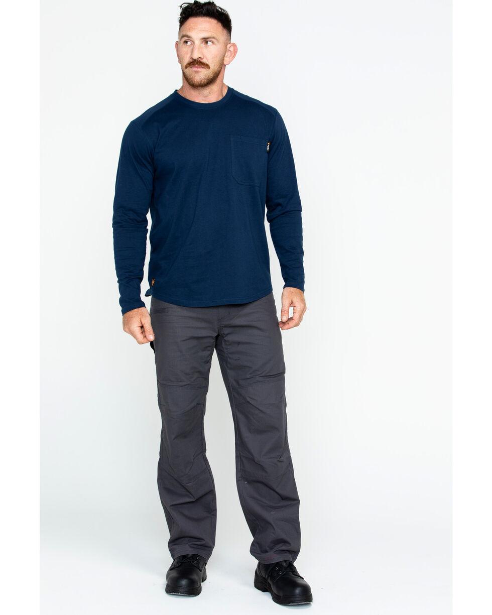 Hawx® Men's Solid Pocket Crew Tee - Big & Tall , Navy, hi-res