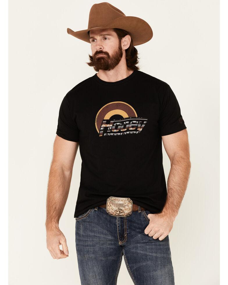 HOOey Men's Black Suds Aztec Logo Graphic Short Sleeve T-Shirt , Black, hi-res