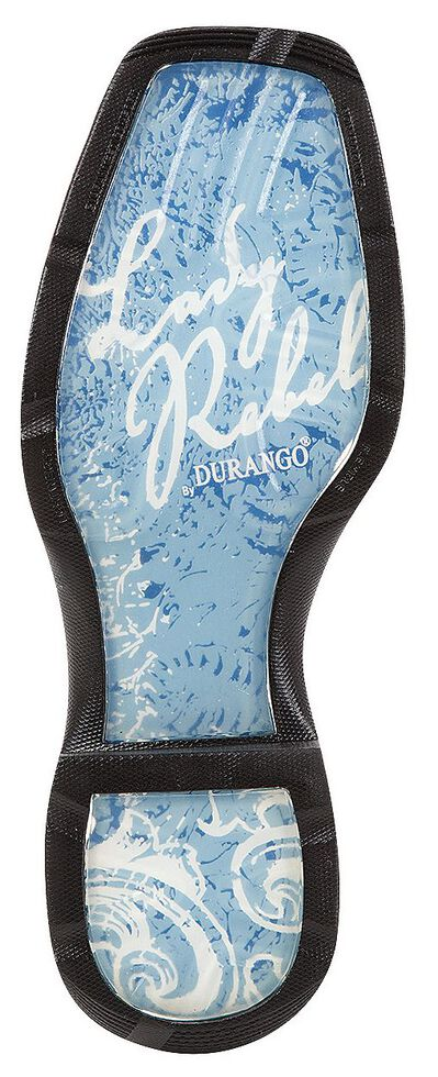 Durango Lady Rebel Snake Print Cowgirl Boots - Square Toe, Black, hi-res